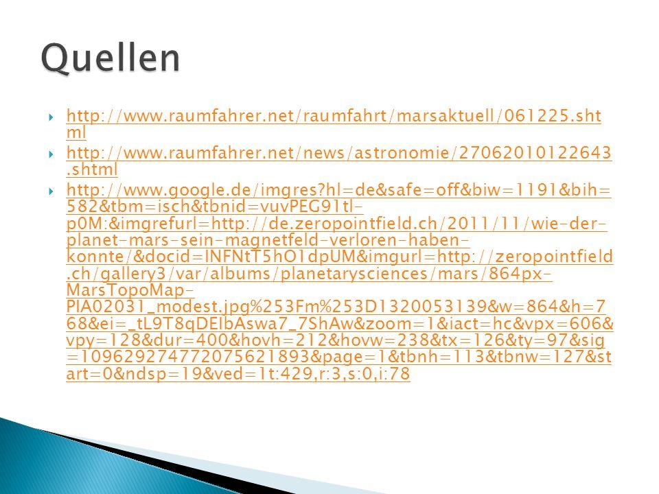  http://www.raumfahrer.net/raumfahrt/marsaktuell/061225.sht ml http://www.raumfahrer.net/raumfahrt/marsaktuell/061225.sht ml  http://www.raumfahrer.