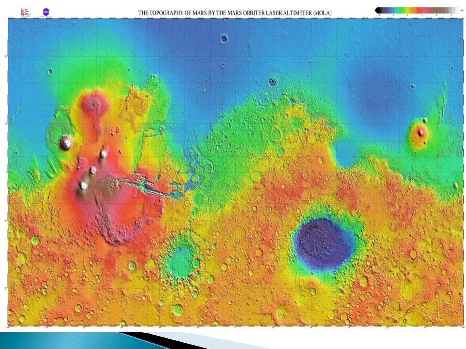Elysium Region :  Besitzt die Schildvulkane : 1. Elysium Mons 2. Hecates Tholus 3. Albor Tholus