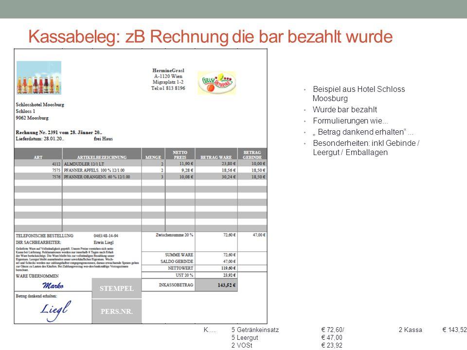 Kassabelege...: Privat, Barverkehr mit Banken Bürobedarf Zani GmbH Grundlagen des Belegwesens Kassabeleg bei Kassaeingang oder Kassaausgang: Z.B.