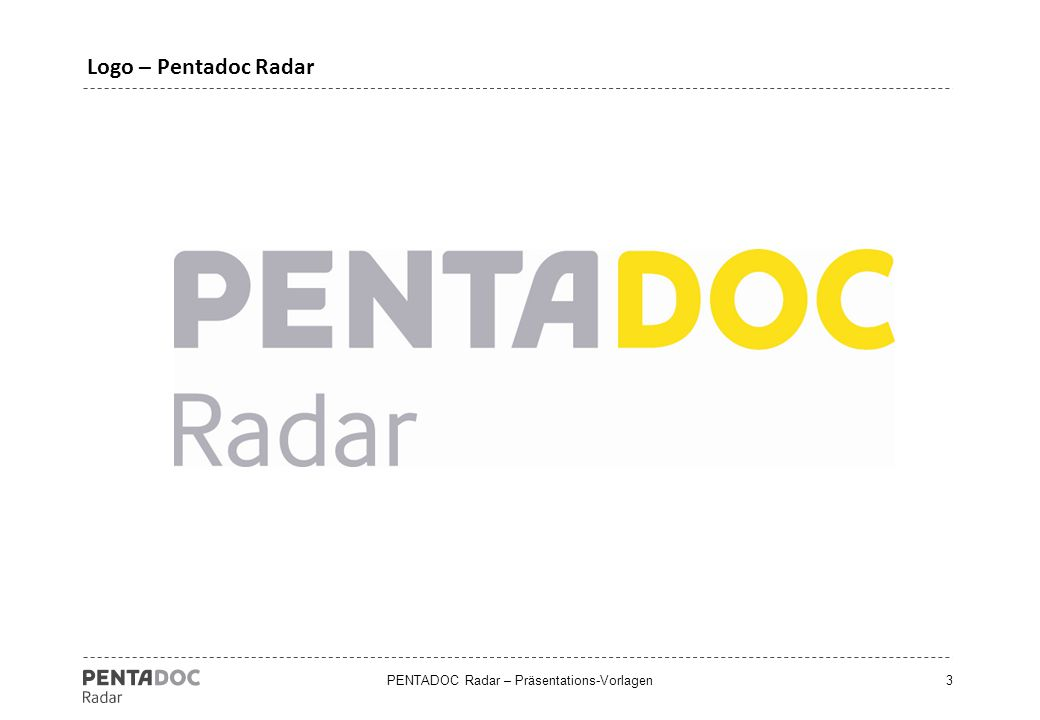 "PENTADOC Radar – Präsentations-Vorlagen4 Auswertung ""time to apllication"