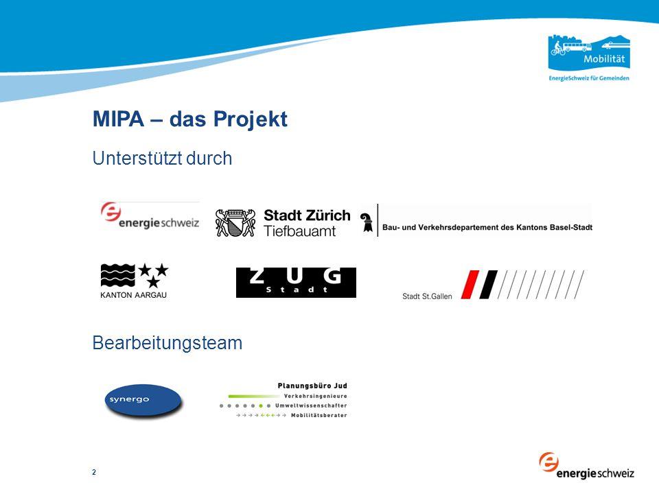 Unterstützt durch Bearbeitungsteam MIPA – das Projekt 2
