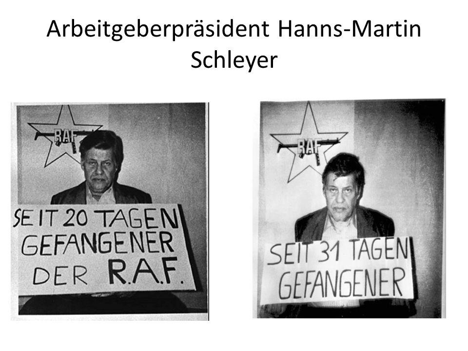 Arbeitgeberpräsident Hanns-Martin Schleyer