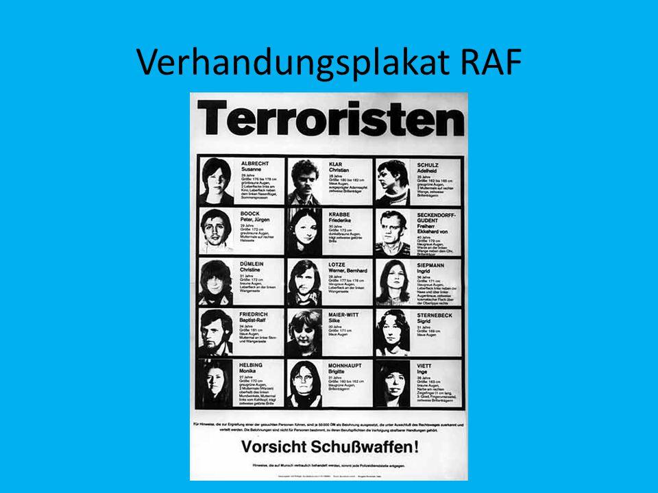 Verhandungsplakat RAF