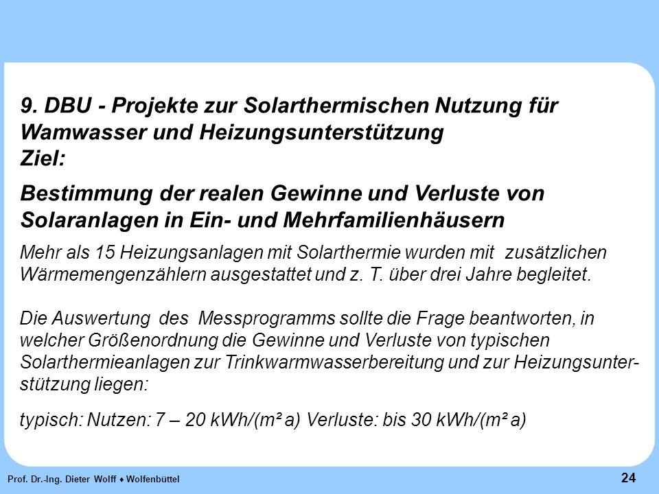 24 Prof. Dr.-Ing. Dieter Wolff ♦ Wolfenbüttel 9.