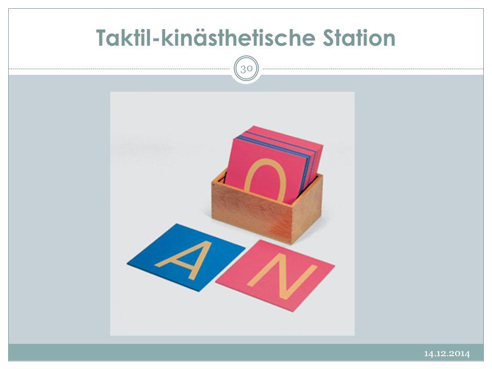 Taktil-kinästhetische Station 14.12.2014 30