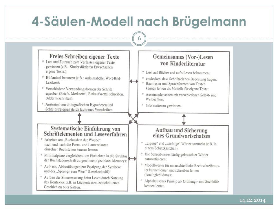 4-Säulen-Modell nach Brügelmann 14.12.2014 6