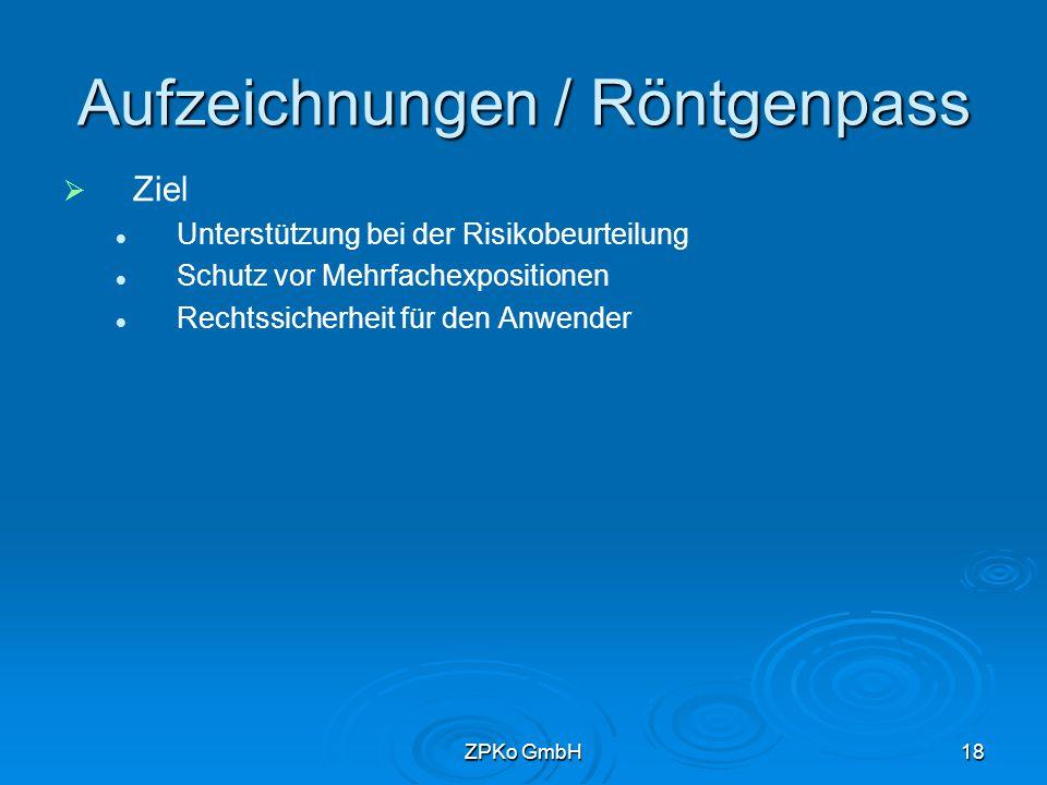ZPKo GmbH17 Gliederung