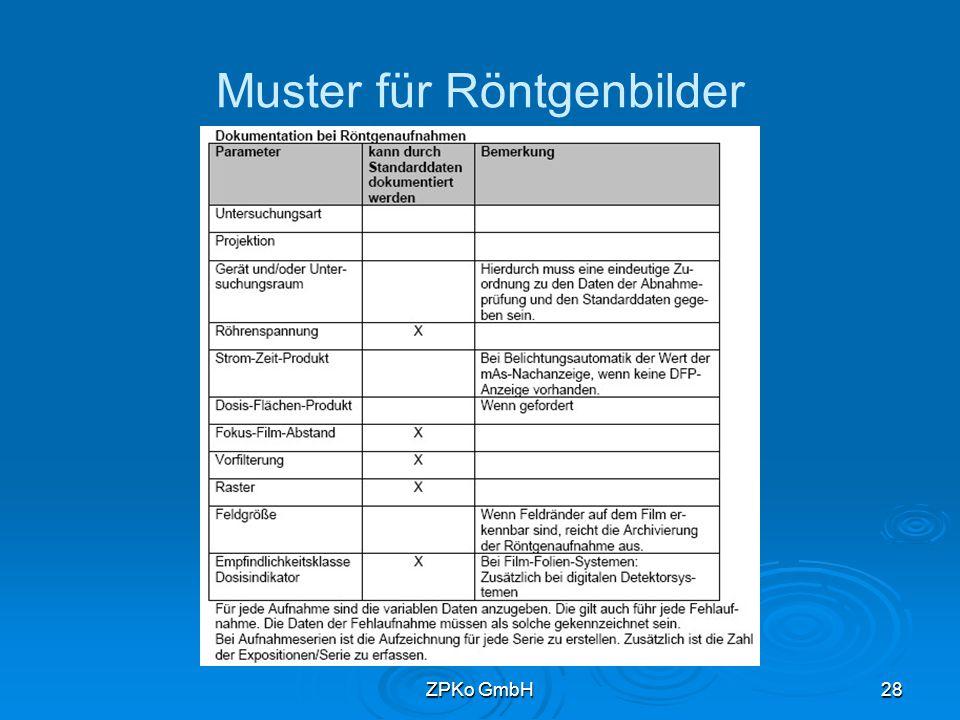 ZPKo GmbH27 Röntgenbilder   Röhrenspannung   mAs-Produkt (bzw.