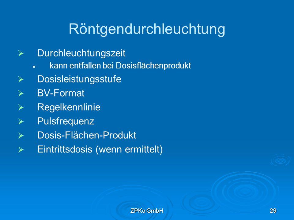 ZPKo GmbH28 Muster für Röntgenbilder