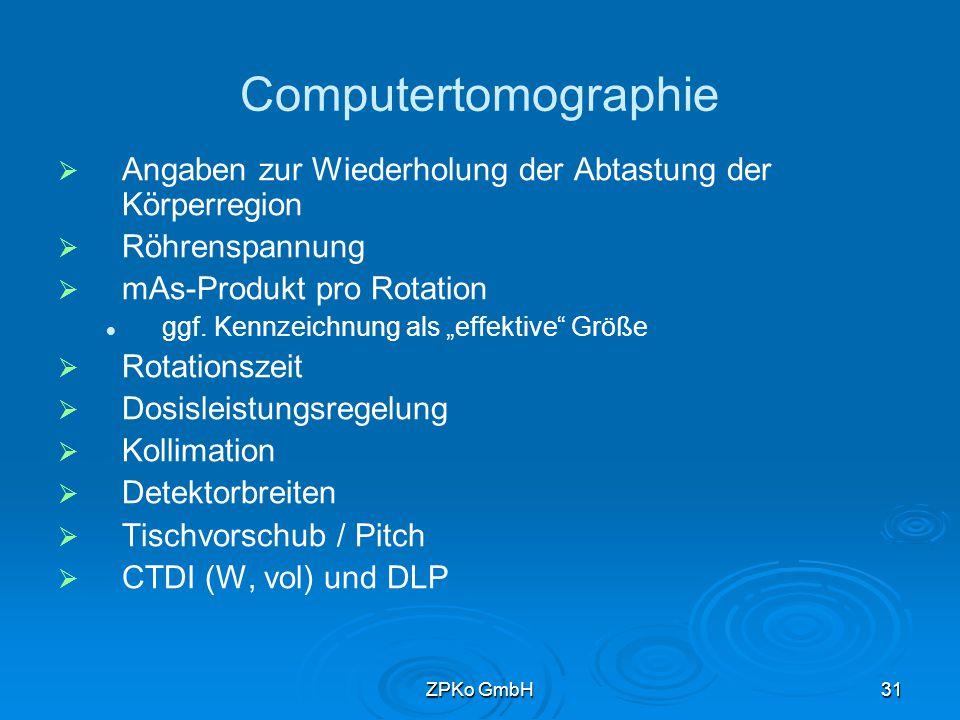 ZPKo GmbH30 Muster für Röntgendurchleuchtung