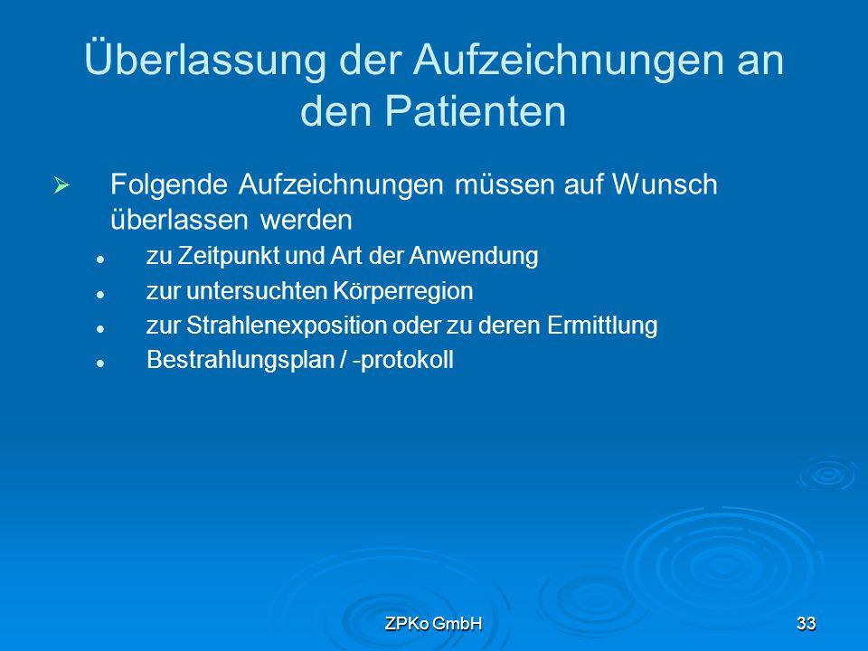 ZPKo GmbH32 Muster für Computertomographie