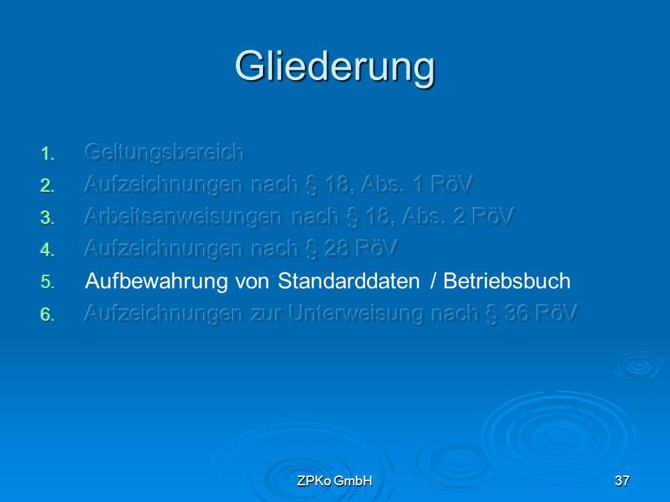 ZPKo GmbH36 Aufbewahrung der Röntgenbilder und Aufzeichnungen   Empfehlung 30 Jahre aufbewahren wegen Verjährung von Schadenersatzansprüchen des Patienten
