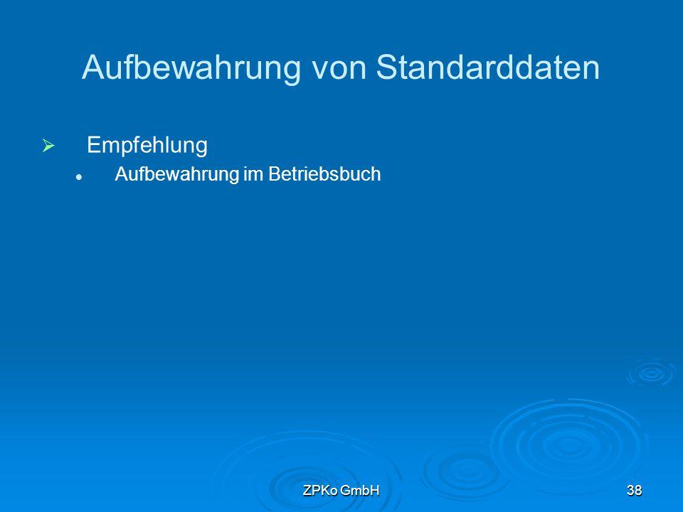 ZPKo GmbH37 Gliederung