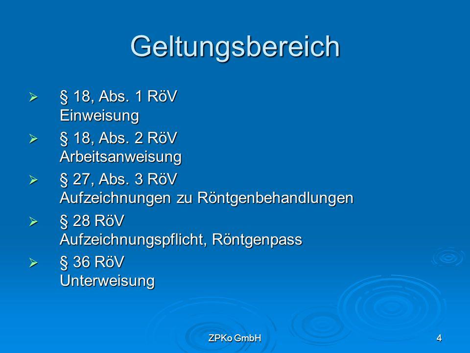 ZPKo GmbH3 Gliederung