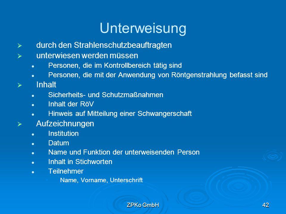 ZPKo GmbH41 Gliederung
