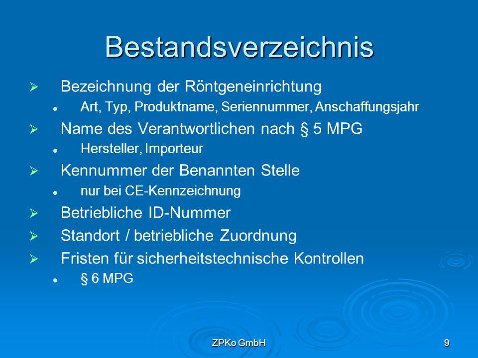 ZPKo GmbH8 Einweisung des Personals