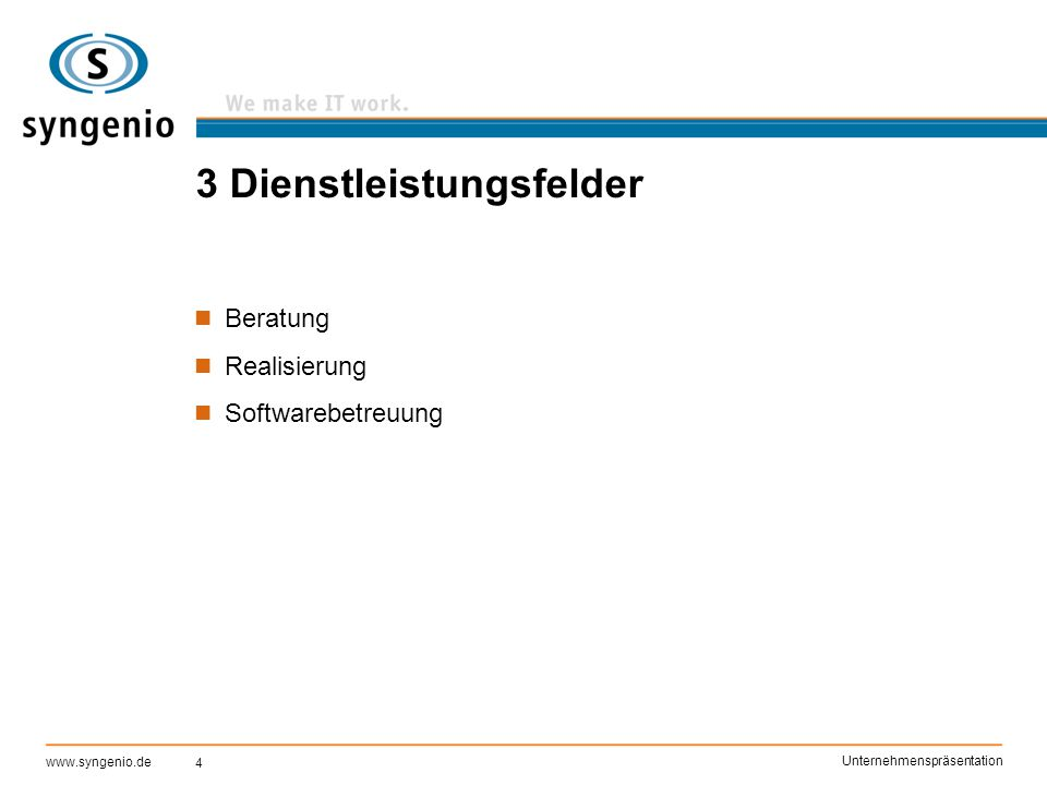5 www.syngenio.de Unternehmenspräsentation Kernkompetenzen J2EE-Technologie Lotus Notes Data Warehouse/Business Intelligence