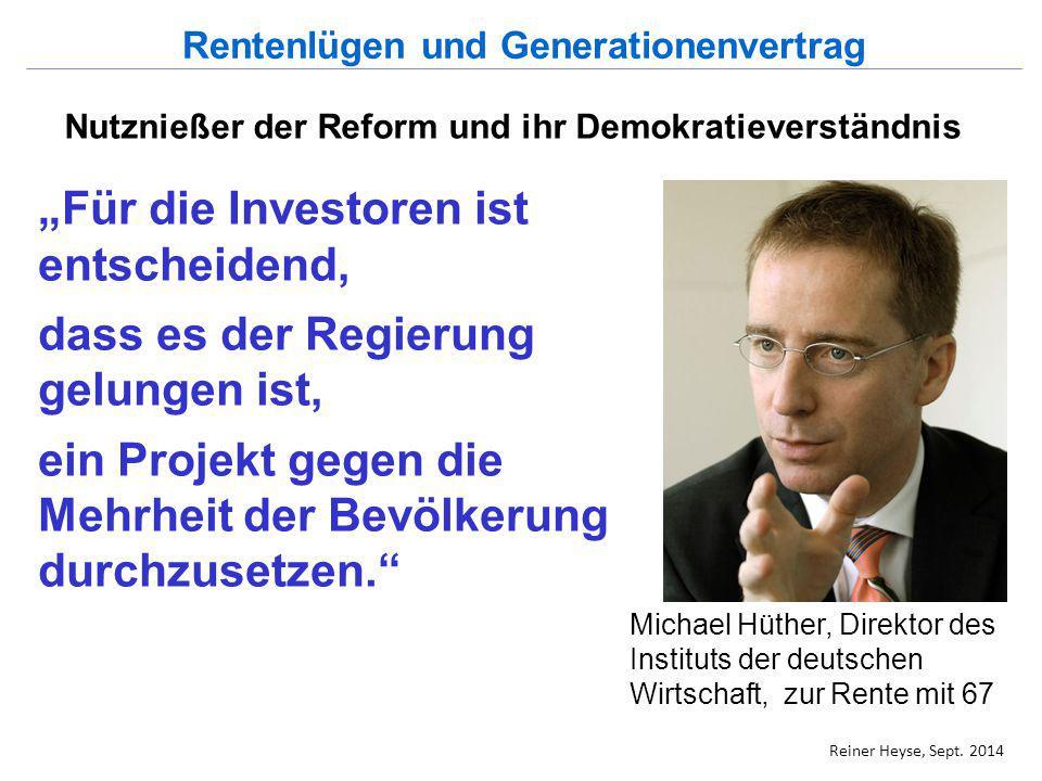 """""""Für die Investoren ist entscheidend, dass es der Regierung gelungen ist, ein Projekt gegen die Mehrheit der Bevölkerung durchzusetzen."""" Michael Hüthe"""