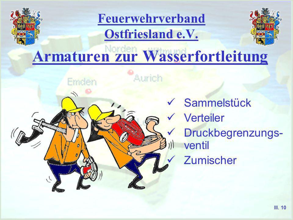 Feuerwehrverband Ostfriesland e.V. Armaturen zur Wasserentnahme Standrohr Handrad Ventilkopfstück Ventilteller Stopfbuchsbrille Griffstück Stopfbuchse