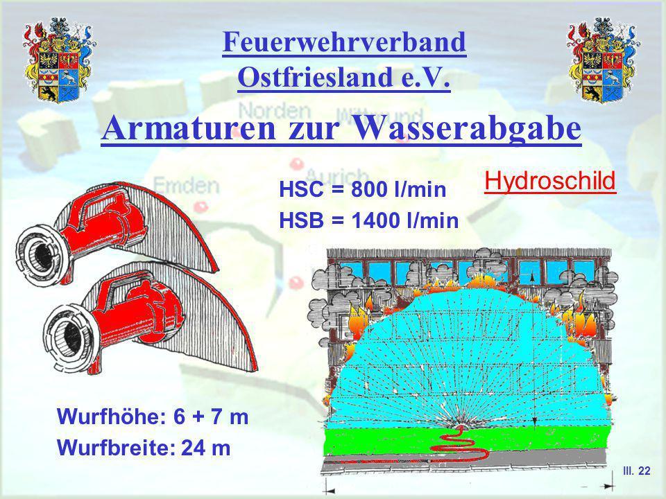 Feuerwehrverband Ostfriesland e.V. Armaturen zur Wasserabgabe Stützkrümmer Haltegriff Gehäuse Festkupplung III. 21