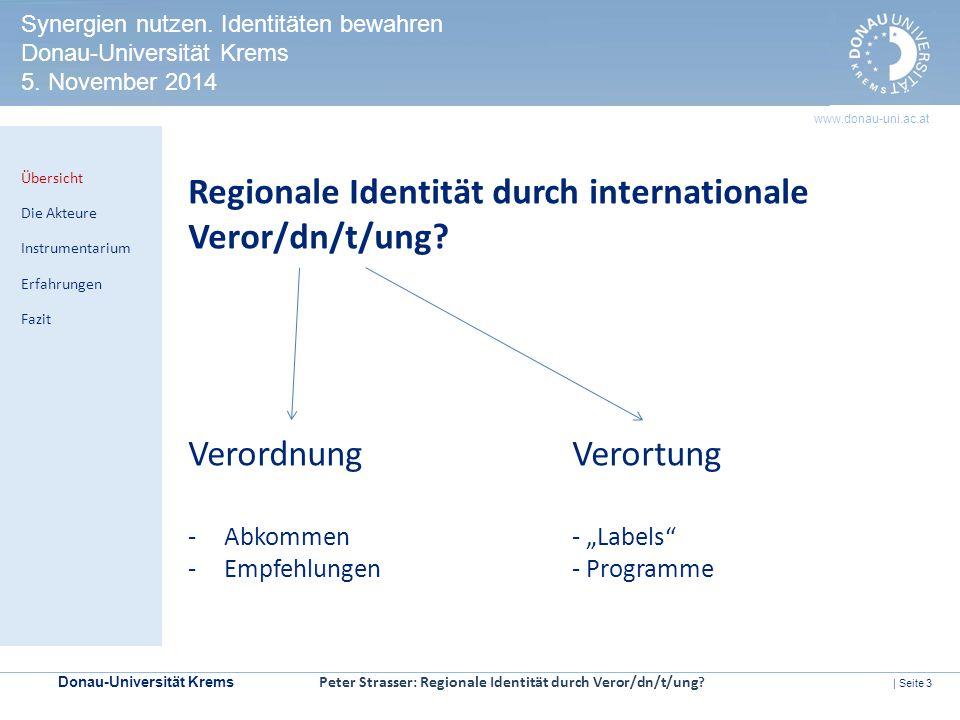 Donau-Universität Krems | Seite 3 www.donau-uni.ac.at HERITAGE IMPACT ASSESSMENT Kontrollmechanismen zur Prüfung der Welterbeverträglichkeit in UNESCO-Welterbestätten Regionale Identität durch internationale Veror/dn/t/ung.