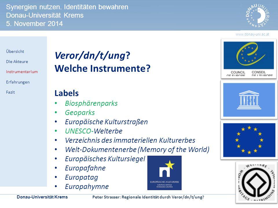Donau-Universität Krems | Seite 8 www.donau-uni.ac.at HERITAGE IMPACT ASSESSMENT Kontrollmechanismen zur Prüfung der Welterbeverträglichkeit in UNESCO-Welterbestätten Veror/dn/t/ung.