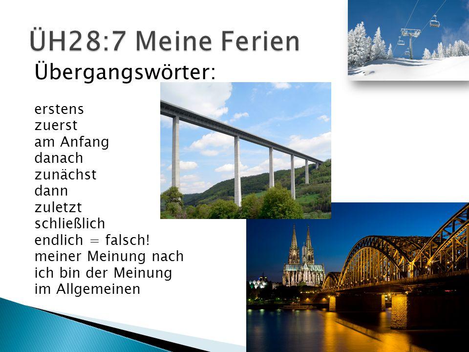 In den Ferien bin ich nach Dresden und Frankfurt geflogen. Zuerst war ich in Dresden. Ich habe viel Spaß in Dresden gehabt. Dort bin ich durch den Zwi