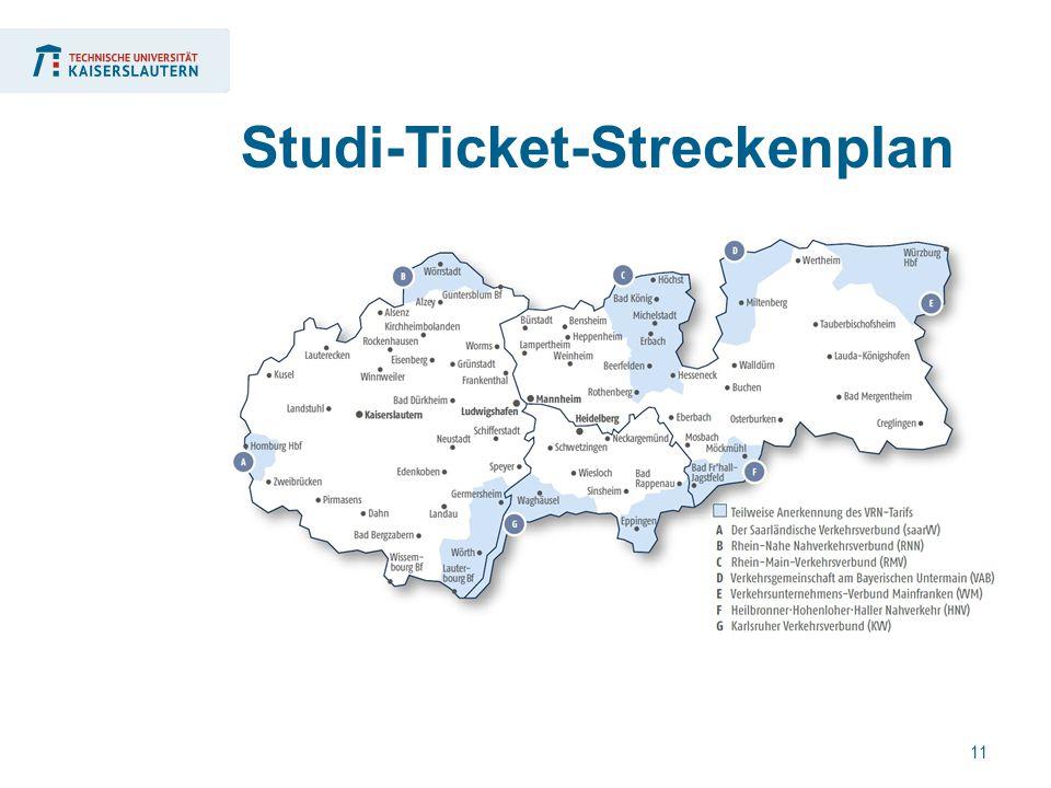 11 Studi-Ticket-Streckenplan