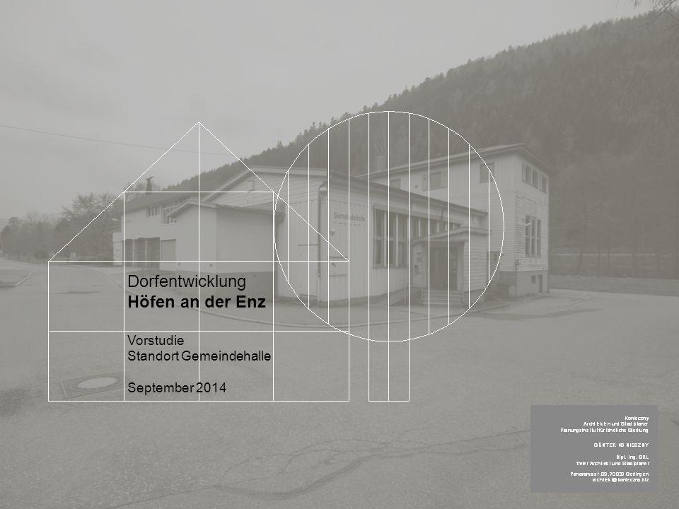 Dorfentwicklung Höfen an der Enz Vorstudie Standort Gemeindehalle September 2014