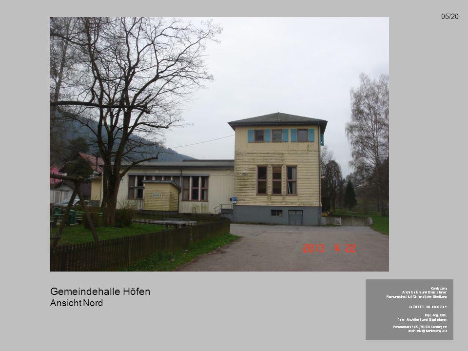 Gemeindehalle Höfen Ansicht Nord 05/20