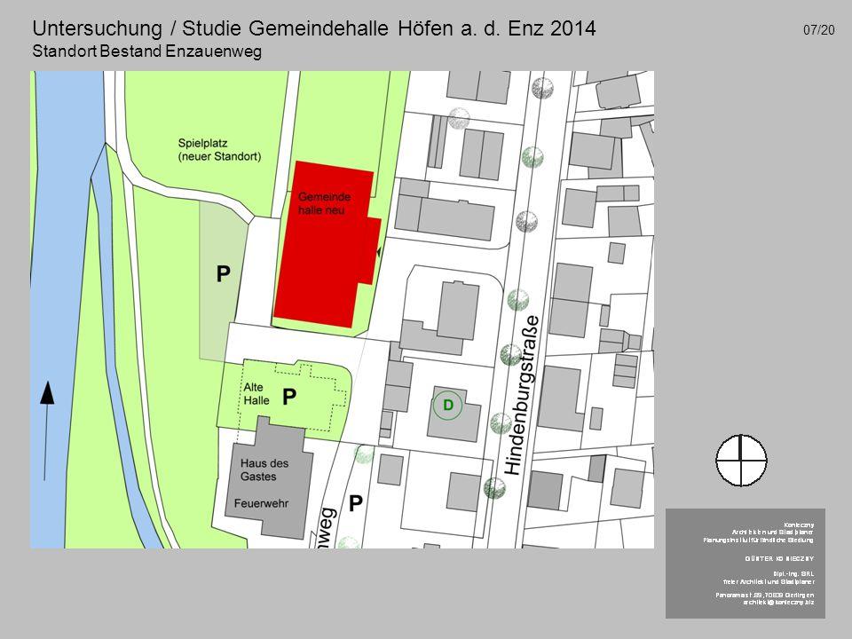Untersuchung / Studie Gemeindehalle Höfen a. d. Enz 2014 Standort Bestand Enzauenweg 07/20