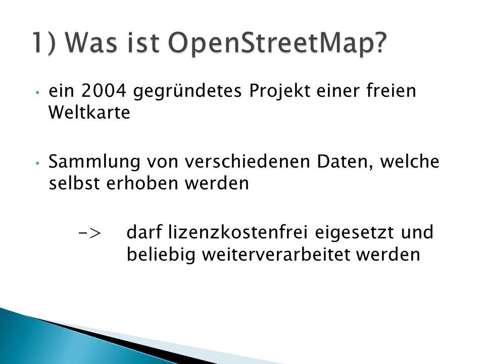 das Routing (Wegwahlfunktion) steht im Vordergrund optisches darstellen von Straßenattributen Aufgabengebiete für die Funktionalität ◦ geografische Rohdaten ◦ Anwendungsprogrammierung ◦ Rendering ◦ Beispiel: OSMarelmon