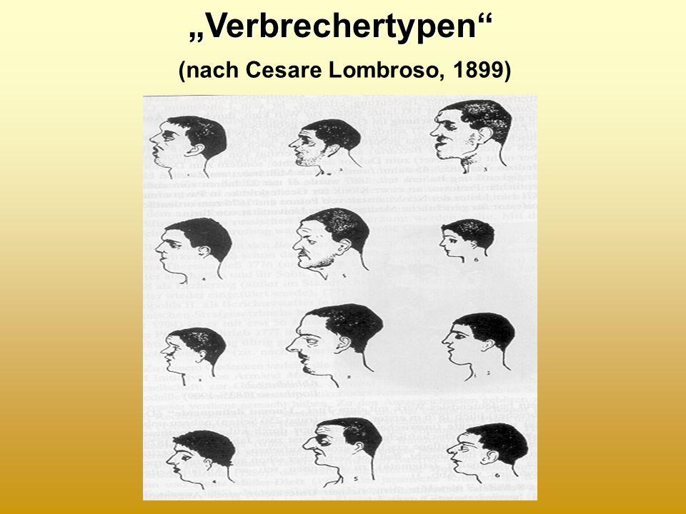 "(nach Cesare Lombroso, 1899)""Verbrechertypen"""