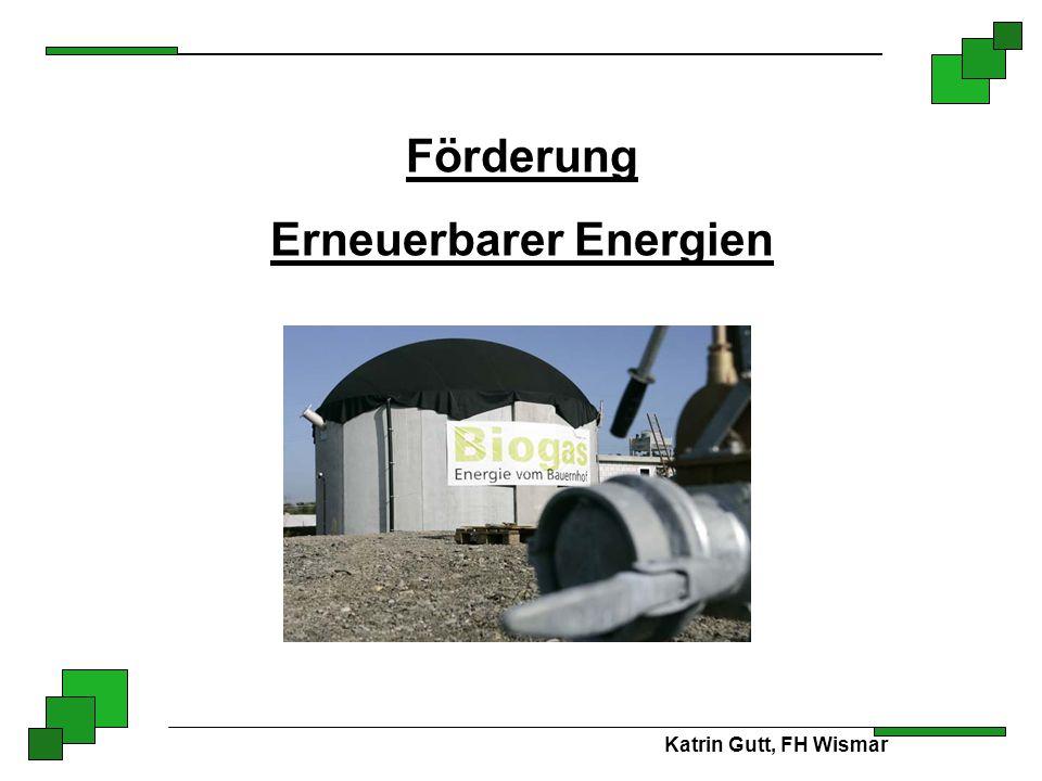 Förderung Erneuerbarer Energien Katrin Gutt, FH Wismar