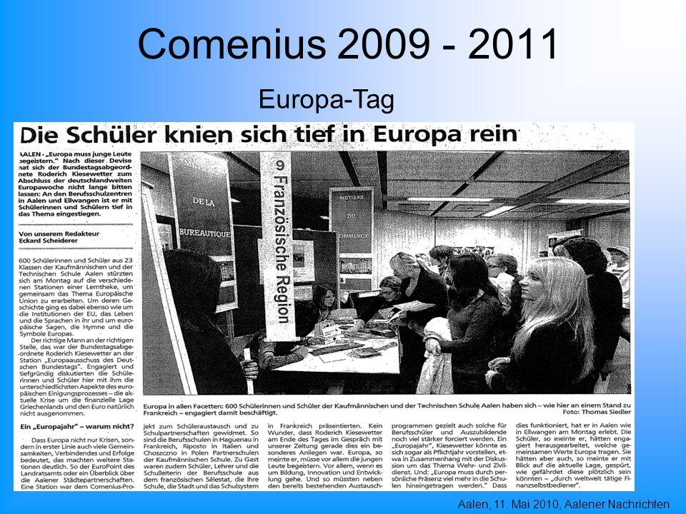 Comenius 2009 - 2011 Europa-Tag Aalen, 11. Mai 2010, Aalener Nachrichten