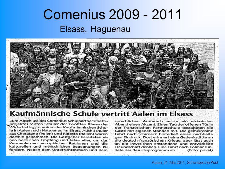 Comenius 2009 - 2011 Elsass, Haguenau Aalen, 21. Mai 2011, Schwäbische Post
