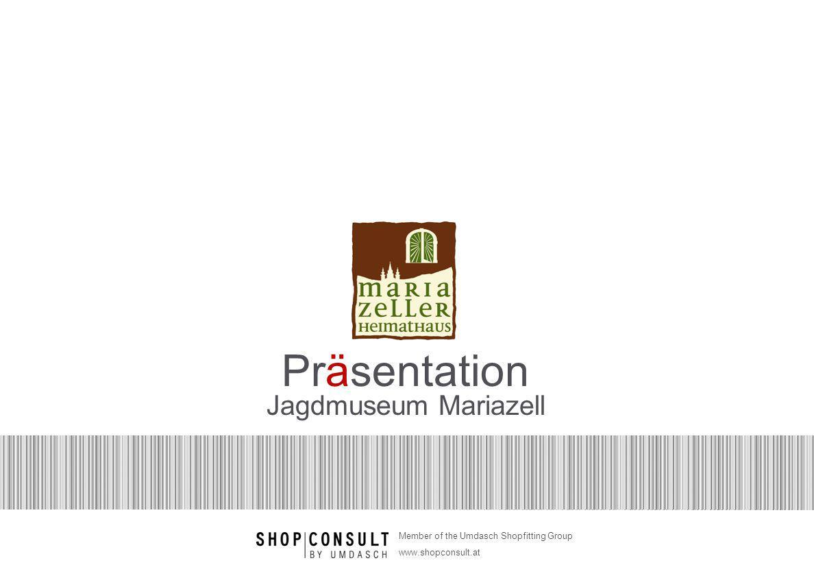 Seite 22 Member of the Umdasch Shopfitting Group www.shopconsult.at Dachgeschoß 3D-Visualisierung Jagd Erzherzog Johann Durchgang zu Krupp- & Meranjäger