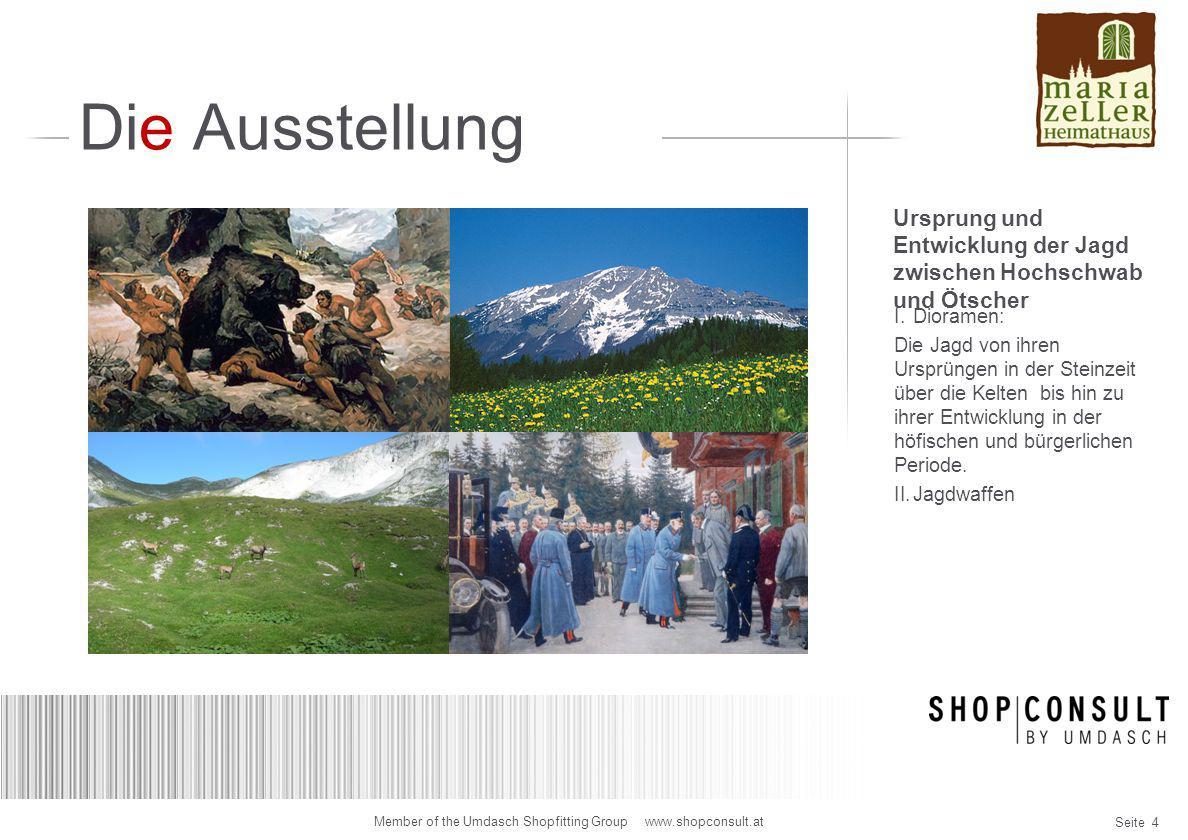 """Seite 25 Member of the Umdasch Shopfitting Group www.shopconsult.at Dachgeschoß 3D-Visualisierung Vitrinen """"Stimmen des Waldes"""