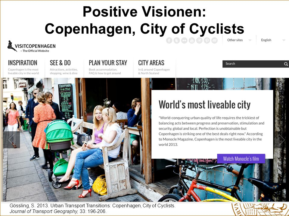 Gössling, S.2013. Urban Transport Transitions: Copenhagen, City of Cyclists.