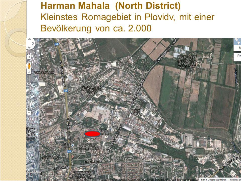 Harman Mahala (North District) Kleinstes Romagebiet in Plovidv, mit einer Bevölkerung von ca. 2.000