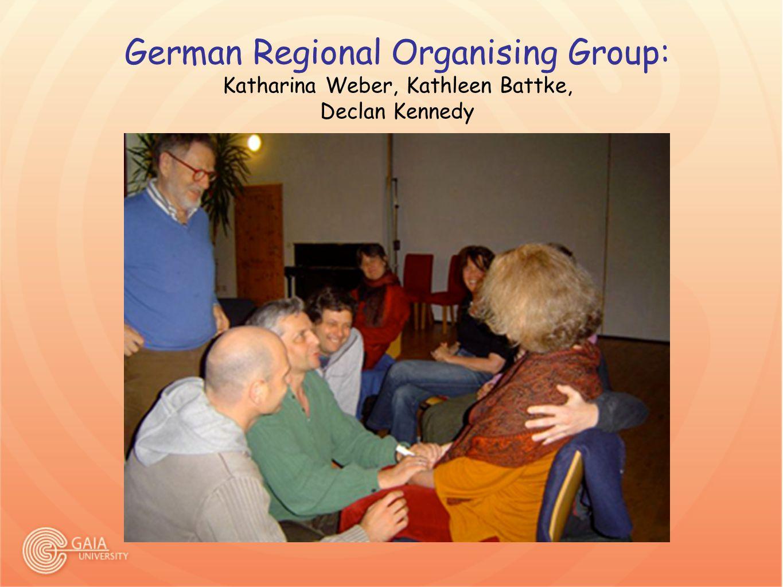 German Regional Organising Group: Katharina Weber, Kathleen Battke, Declan Kennedy