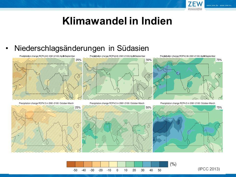 (IPCC 2013) Klimawandel in Indien Niederschlagsänderungen in Südasien