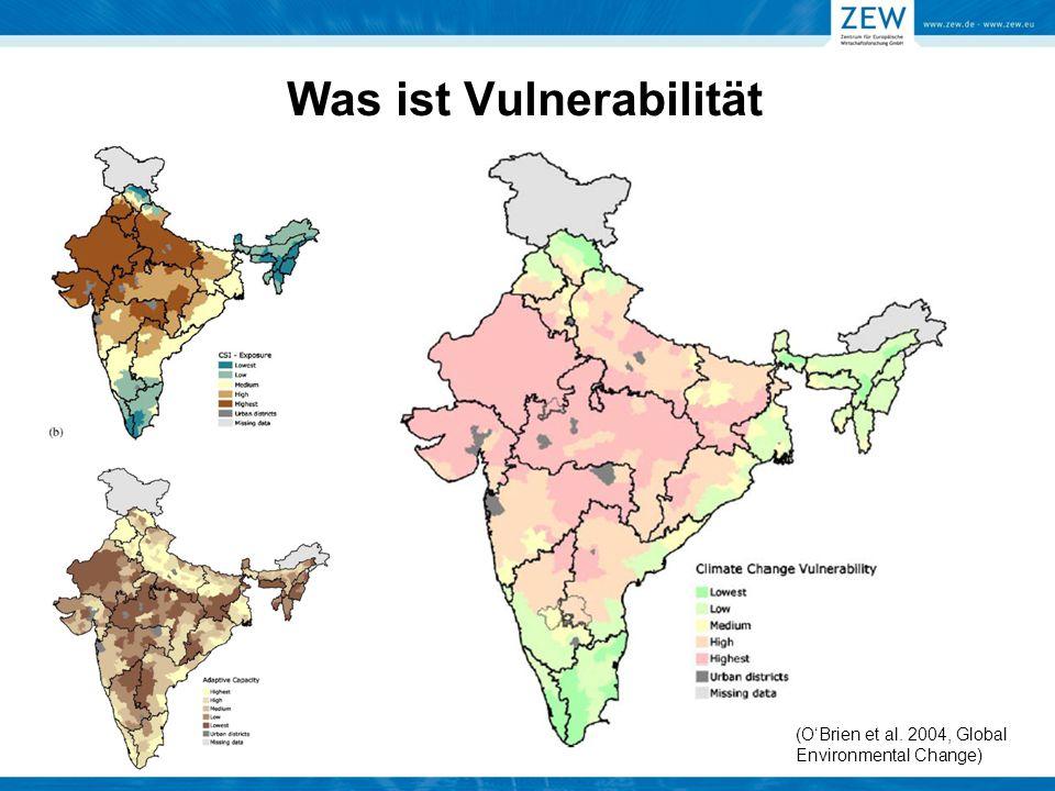 Was ist Vulnerabilität (O'Brien et al. 2004, Global Environmental Change)