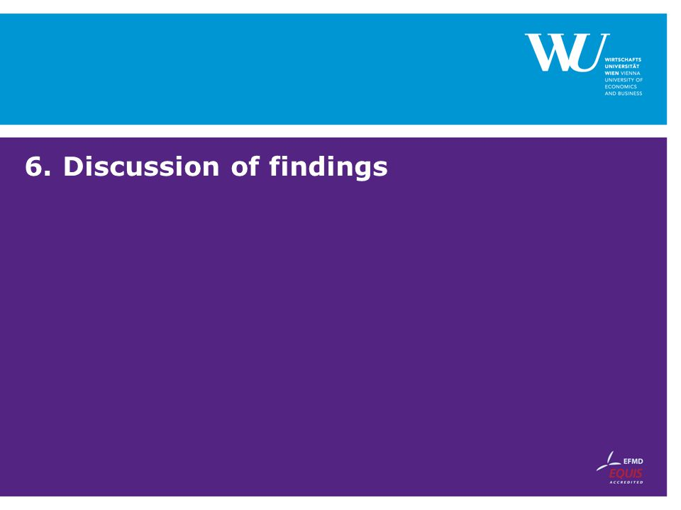 6.Discussion of findings