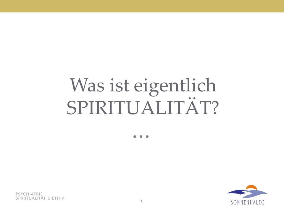 3 Was ist eigentlich SPIRITUALITÄT?