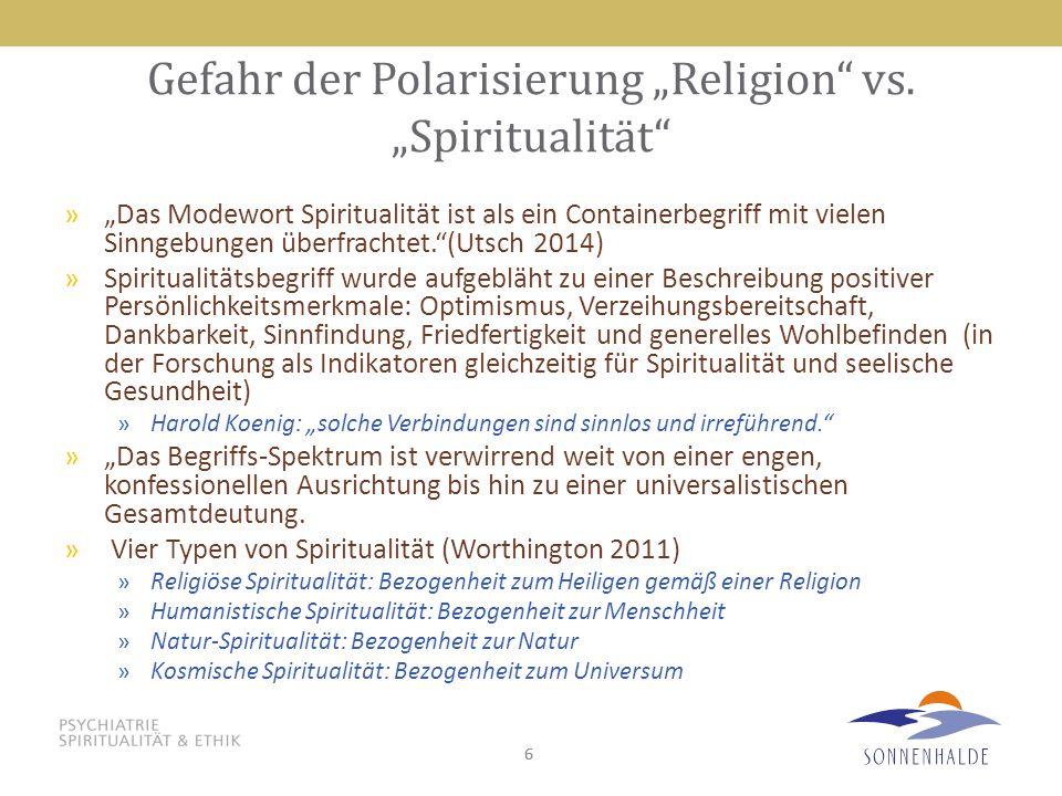 """66 Gefahr der Polarisierung """"Religion"""" vs. """"Spiritualität"""" »""""Das Modewort Spiritualität ist als ein Containerbegriff mit vielen Sinngebungen überfrach"""