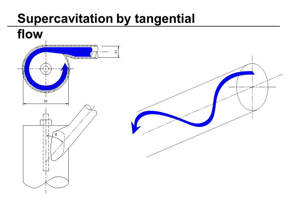 Supercavitation by tangential flow