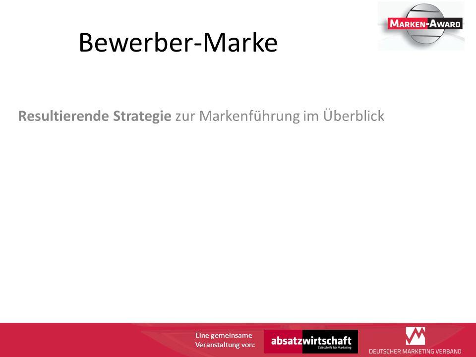 Eine gemeinsame Veranstaltung von: Bewerber-Marke Die Positionierung: z.B.