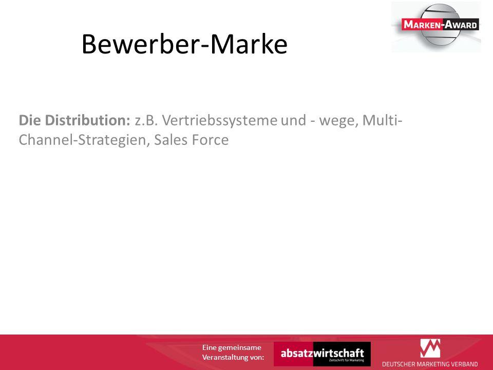 Eine gemeinsame Veranstaltung von: Bewerber-Marke Die Distribution: z.B.