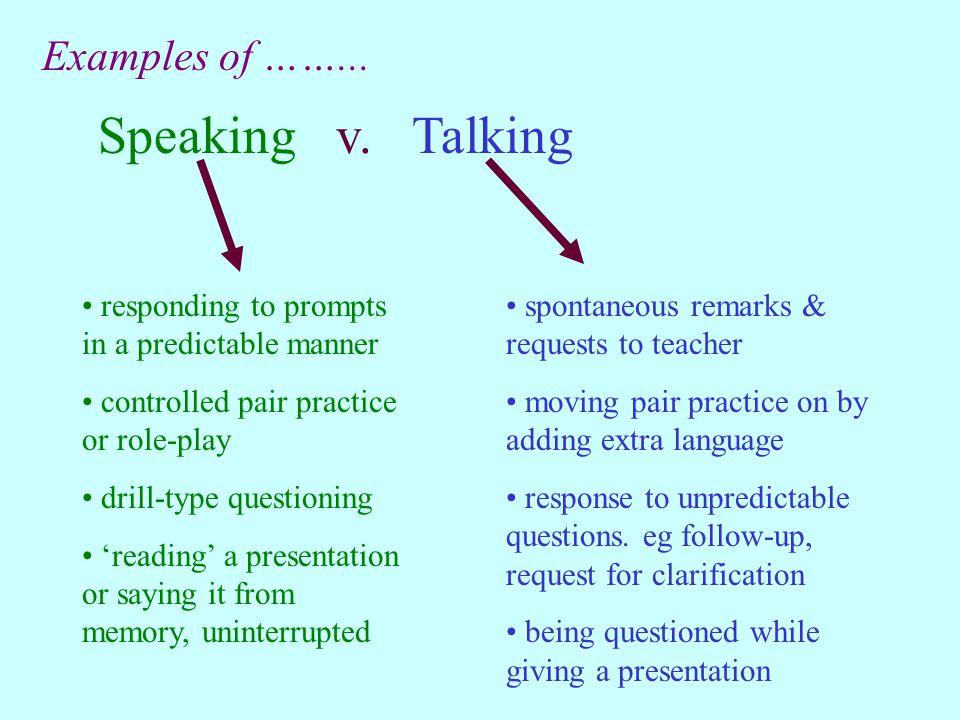 Speaking v.